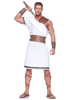 Lead the other Greeks into battle this Halloween when you're wearing this Mens Greek Warrior Costume. It's a great toga costume for any historical party! Roman Toga, Roman Dress, Wholesale Halloween Costumes, Toga Party, Roman Warriors, Warrior Costume, Spartan Costume, Warrior Outfit, Greek Warrior