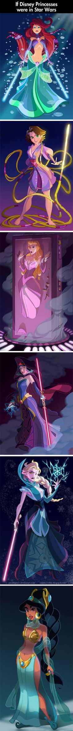 What 6 famous Disney princesses would look like in the Star Wars universe.