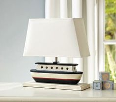 Shop sailboat lamp from Pottery Barn Kids. Find expertly crafted kids and baby furniture, decor and accessories, including a variety of sailboat lamp. Baby Boy Rooms, Baby Boy Nurseries, Baby Room, Boy Bedrooms, Kids Rooms, Changing Table Storage, Nautical Bedroom, Nautical Theme, Nautical Baby