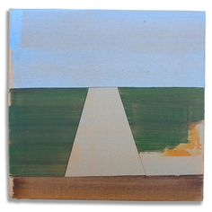 Hans Gerritsen — Karton_serie_04 - Abstract Dutch landscape painting on cardboard, Holland, Groningen, cardboard