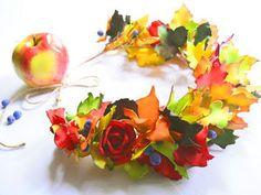 Создаем яркий венок из фоамирана «Краски осени»   Ярмарка Мастеров - ручная работа, handmade