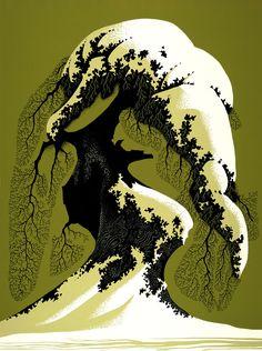 Eyvind Earle (1916-2000) American Artist and Illustartor ~ Blog of an Art Admirer
