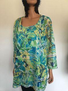 Inquest Woman Plus Size 3X Woman Tunic Designer Fashion Tropical Hip #OnqueWoman #Tunic