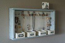 Wooden Tray Jewelry Organizer