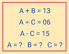 Can you solve each letter value?