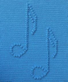 Ravelry: Musical Notes Baby Blanket pattern by Marilyn Sehn crochet