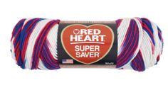 Stars & Stripes Color of Red Heart Super Saver