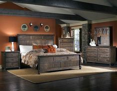Rustic bedroom furniture sets very suitable for those of you who really want to have a gorgeous bedroom and also beautiful. And of course with the black bedroom furniture sets, cheap rustic bedroom furniture sets, white bedroom furniture sets Rustic Bedroom Furniture Sets, Pallet Patio Furniture, Wood Bedroom, Furniture Design, Bedroom Decor, Furniture Projects, Diy Furniture, Bedroom Ideas, Furniture Plans