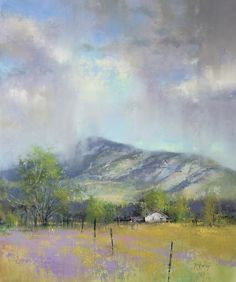 Spring Rains by Richard McKinley Pastel ~ 18 x 15