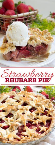 Strawberry Rhubarb Pie Pinterest
