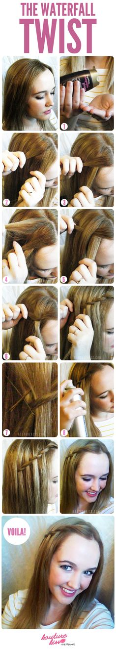 How-to: The Waterfall Twist. The most easy way I've seen it done