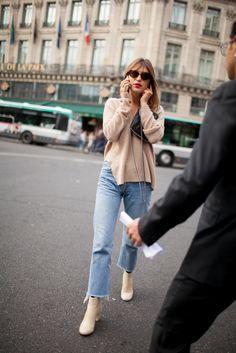 Jeanne Damas - The best of street style during Milan Fashion Week Daily Fashion, Fashion Week 2016, Look Fashion, Paris Fashion, Fashion Photo, Net Fashion, Street Fashion, Jeanne Damas, Looks Style