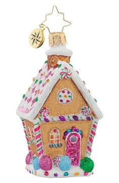 Christopher Radko 'Sugar Shack' Gingerbread House Ornament available at #Nordstrom