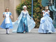 Alice, Cinderella, and Elsa