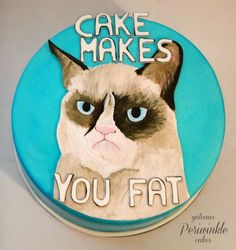 Grumpy Cat Cake Design : 1000+ images about Cat Cake! on Pinterest Cat cakes ...