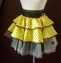 Bumble  DOT Yellow Couture and Sassy  Aprons by Trish Vernazza Featured in Apronology Magazine. $44.00, via Etsy.