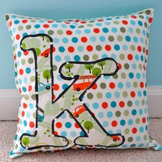 monogram pillow.