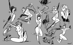 a page of warmup poses. I usually do these before thumbnailing a move list. Gotta calibrate first :)