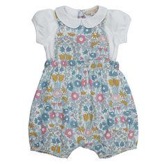 27d9c6318 BuyJohn Lewis Heirloom Collection Baby Daisy Bibshort Set, Green/Multi,  12-18