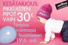 Kesän lahjatilaukset sisään vielä ennen juhannusta: nyt ikiomaksi kustomoitu pipo vain 30 €! (Norm. 44,90 €) www.mewe.fi