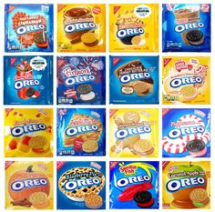Cookies and Biscotti Nabisco Oreo Cookies Limited Edition And Special Fla. Weird Oreo Flavors, Pop Tart Flavors, Cookie Flavors, Different Oreo Flavors, Funny Food Memes, Food Humor, Cute Food, Yummy Food, Nabisco Oreo