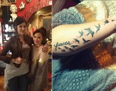 """Demi Lovato is keeping the faith! The """"X Factor"""" judge hit up Twitter to show off her latest ink job to fans -- and to give a special shout out to Kat Von D for hooking her up with the new tattoo. """"Thank you so much @thekatvond for my new ink!! I think it's beautiful and I love it!!"""" Lovato tweeted to her 10 million followers, postng a photo of herself cozying up with the famous tattoo artist. Lovato later shared another photo of the word """"faith"""" inked in cursive on her forearm, surrounded…"""
