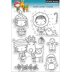 Penny 'Mimi's Winter Friends' Clear Stamps