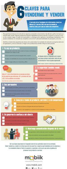 6 claves para venderme y vender #infografia #infographic #marketing | TICs y Formación