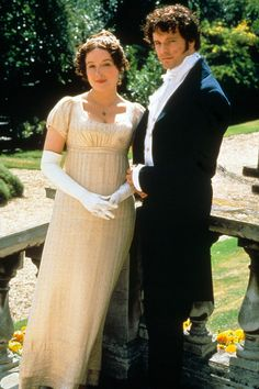 Colin Firth as Mr. Darcy, BBC production of Jane Austin's Pride & Prejudice. Style on Screen: The most fashionable TV shows of all time - Celebrity Fashion (Glamour.com UK)