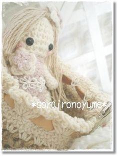 *crochet  by *soraironoyume* MISHA http://soraironoyumeqmisha.blog.fc2.com/blog-entry-164.html
