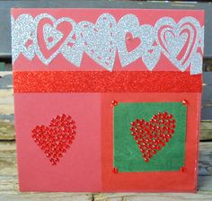 Red Hearts, Half Price, Valentine Day Cards, My Etsy Shop, Kids Rugs, Awesome, Unique Jewelry, Handmade Gifts, Vintage