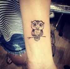 Resultado de imagem para tattoo coruja feminina delicada