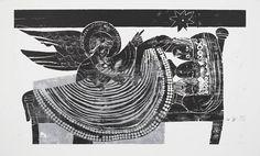 Andrea Buettner Untitled (three kings), Untitled (three kings), 2012, woodcut on paper, 130 x 214 cm