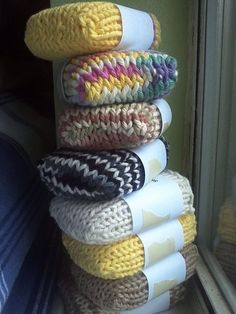 Knitted Soap Socks