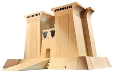 Haba house of education egyptian building blocks - Image House of Education Wooden Building Blocks, Wooden Blocks, Building Toys, Egyptian Era, Egyptian Temple, Amazing Buildings, Image House, Kid Spaces, Architecture