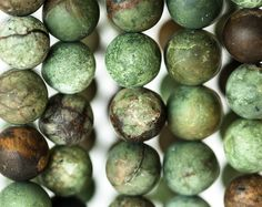 1063_Opal 10 mm, Green-brown opal, Opal stone, Round stone beads, Natural stones, Round opal for jewelry, Natural opal beads, Round opal.