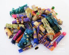 linda matthews-blog.  gives you tips on creating fabric beads