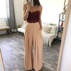 What to wear with palazzo pants http://www.justtrendygirls.com/what-to-wear-with-palazzo-pants/