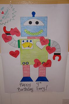 Pin the heart on the robot and other adorable robot themed party ideas!
