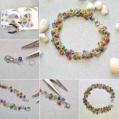 Pandahall 1 Box Glass Seed Beads Rainbow Colors DIY for Earring Necklace Braclet Making: Amazon.co.uk: Kitchen & Home