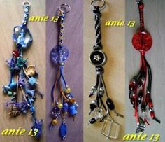 Analy Manualidades: Llaveros Kumihimo Diy Keyring, Rear Mirror, Loom Bands, Key Rings, Washer Necklace, Beaded Jewelry, Jewelery, Key Chains, Jewelry Making