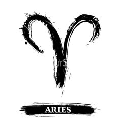 Potential Aries Symbol for behind my ear? Aries symbol vector 1078910 - by oxygen64 on VectorStock®