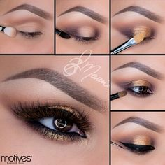 Cute Motives Cosmetics Tutorial by Professional Professional Makeup Tutorial - Hair Styles Mascara, Eye Makeup Steps, Makeup Tips, Makeup Ideas, Fast Makeup, Cute Makeup, Makeup Looks, Pretty Makeup, Motives Makeup
