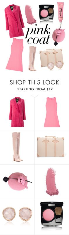 """""""It's Never Too Pink"""" by tyaradelia ❤ liked on Polyvore featuring Ter Et Bantine, Elizabeth and James, Gianvito Rossi, Globe-Trotter, Gucci, Monica Vinader and Chanel"""