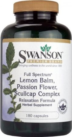 Swanson Lemon Balm, Passion Flower, Scullcap Complex (180 Capsules, Relaxation Formula) has been published at http://www.discounted-vitamins-minerals-supplements.info/2013/05/23/swanson-lemon-balm-passion-flower-scullcap-complex-180-capsules-relaxation-formula/