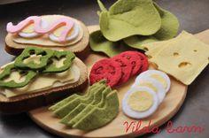 Swedish sandwiches in wool felt.