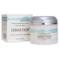 PHARMAGEL Derma Fade - 2oz by Pharmagel. $27.85. PHARMAGEL Derma Fade Creme is a fading and lightening treatment, used daily AM and PM. It utilizes the combined strengths of three advanced antioxidants: Vitamin C, licorice extract and kojic dipalmitate. These are the primary active ingredients that break down any unwanted hyper pigmentation. Derma Fade® is a potent fading treatment that also contains SPF 15 sun protecton for the face. In addition, Pharma C Se...