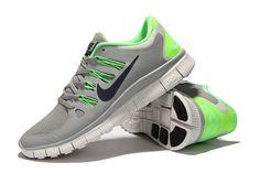 newest 17adf a673d Free Run 5 Women Grey Green Nike Shoes For Sale, Nike Shoes Outlet, Nike