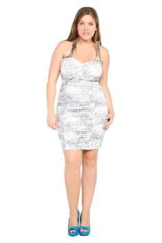 White And Grey Animal Print Strapless Dress