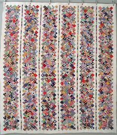 one of these rows as the border of my jane .. using all the bits of fabrics ... hmmm ... yes? no? what do you think @Maria White
